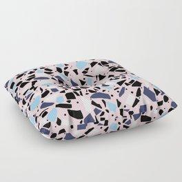 Terrazzo Spot Blues on Blush Floor Pillow