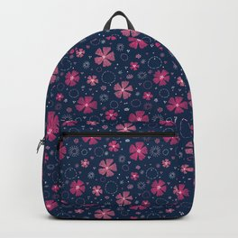 Carthusian Pink Embroidery Backpack