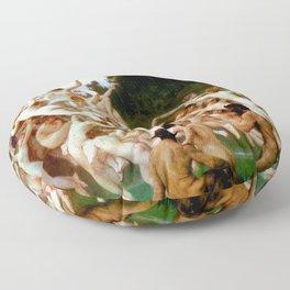 "William-Adolphe Bouguereau ""Les Oréades (The Oreads)"" Floor Pillow"