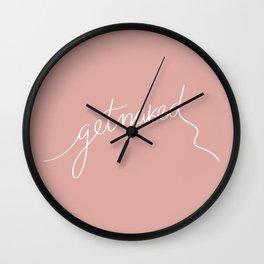 Get naked Pink Wall Clock