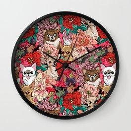 Because Chihuahua Wall Clock