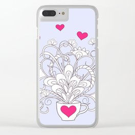 valentine bouquet in the cup Clear iPhone Case