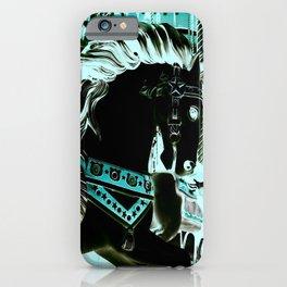 Carousel Horse Turquoise Aqua iPhone Case