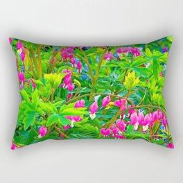 GREEN SPRING GARDEN PINK BLEEDING HEARTS Rectangular Pillow