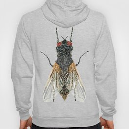 House Fly Bedazzled, Transparent Background Hoody