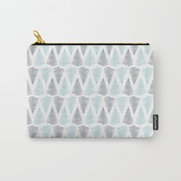 Baby Blue and Gray Ferns Carry-All Pouch