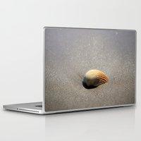 seashell Laptop & iPad Skins featuring Seashell by Maria Heyens