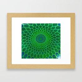 Green Arabic Mosaic Framed Art Print