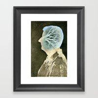 Self-portrait with a tree Framed Art Print