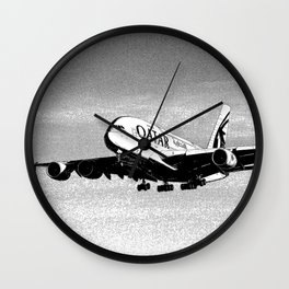 Qatar Airlines Airbus A380 Art Wall Clock