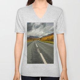 Winding Welsh Road Unisex V-Neck