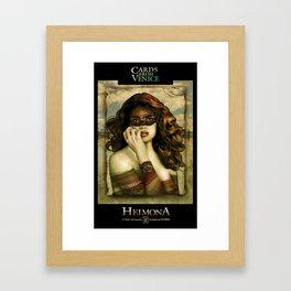 HEIMONA - CARDS FROM VENICE Framed Art Print