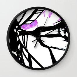 Purple Stain Butterfly Wall Clock