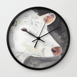 White Cow Wall Clock