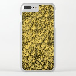 Vintage Floral Lace Leaf Primrose Yellow Clear iPhone Case