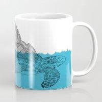turtle Mugs featuring Turtle by David Penela