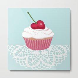 Cherry cupcakes  Metal Print