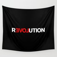 revolution Wall Tapestries featuring REVOLUTION! by THE USUAL DESIGNERS
