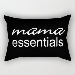 Mama Essentials (black with white) Rectangular Pillow