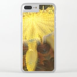 Bee 2D Mandala Remade Clear iPhone Case