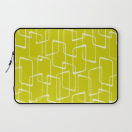 Lime Green Retro Geometric Pattern Laptop Sleeve