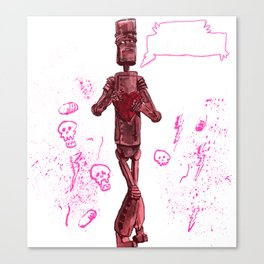 Awkward Robot Canvas Print
