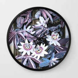 Temple of Flora Pastel Pink Blue Wall Clock