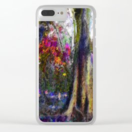 Shrubbery on the Mountain Clear iPhone Case