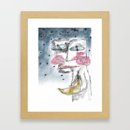 i'll hand you the moon Framed Art Print