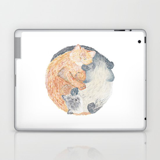 Yin Yang Cats Laptop & iPad Skin