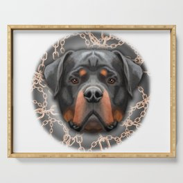Rottweiler Chains, Rottweiler Print, Rottweiler Poster, Rottweiler Gift, Printable Art, Wall Decor Serving Tray