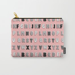 ABC Pink Carry-All Pouch