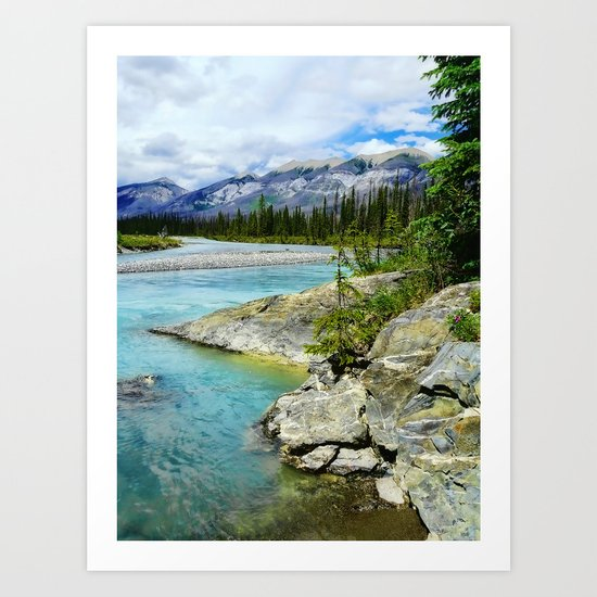 turquoise river Art Print