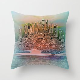 Memory Island Throw Pillow
