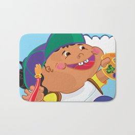 Cartoon Self Portrait  Bath Mat