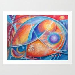 faraway worlds. mundos distantes Art Print