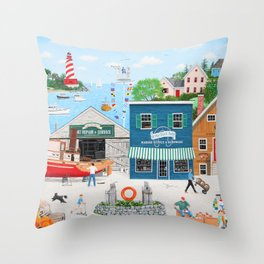 Where the Buoys Are Throw Pillow