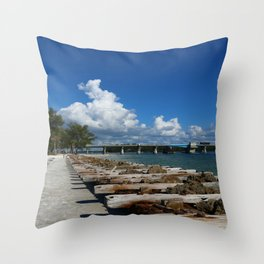 Drawbridge Over Longboat Pass Throw Pillow