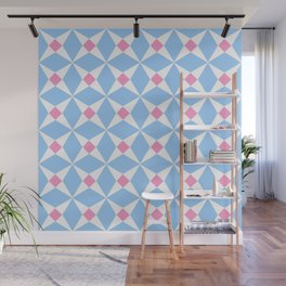 Symmetric patterns 131 pink and blue Wall Mural