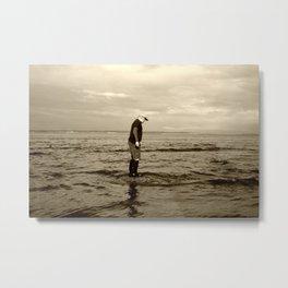 A Boy and The Sea Metal Print