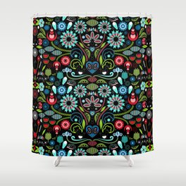 Scandinavian Inspiration (Black) Shower Curtain
