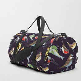 Garden Birds at Night Duffle Bag