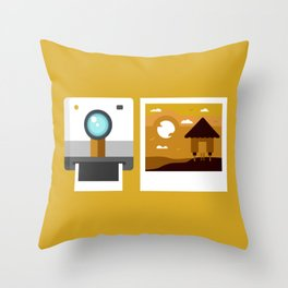Land Camera Throw Pillow