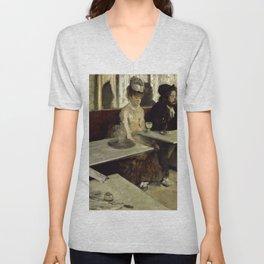"Edgar Degas ""The Absinthe Drinker (Au Café, l'Absinthe)"" Unisex V-Neck"