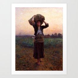 jules Breton - Sheperd's Star Art Print
