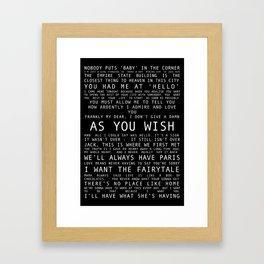 Love Movie Print Framed Art Print