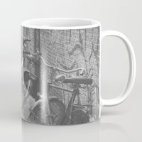 bicycles Mugs featuring amsterdam bicycles... by Chernobylbob