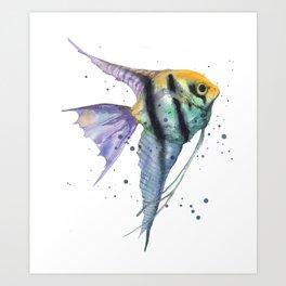 Angelfish Allure Art Print