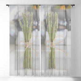 Asparagus Sheer Curtain