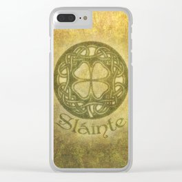 Slainte or To Your Health Clear iPhone Case